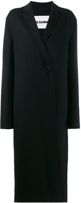 Jil Sander single breasted overcoat
