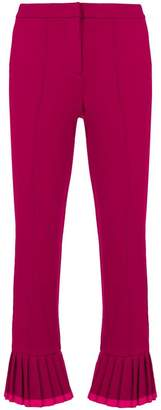 Cambio cropped kick flare tailored trousers