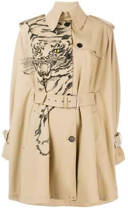 Valentino tiger print trench coat