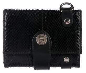 Dolce & Gabbana Snakeskin Chain Wallet