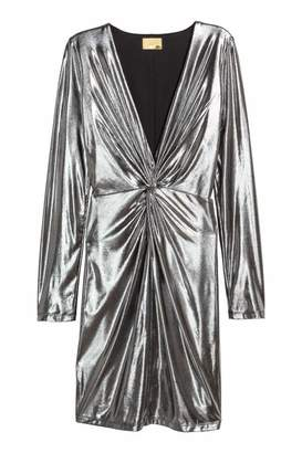 H&M Fitted Dress - Silver-colored - Women