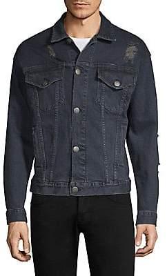 Dim Mak Men's Obex Distressed Denim Jacket