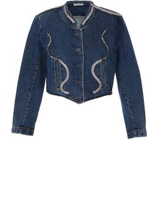Fallon Vintage Guess Embellished Dark Denim Jacket