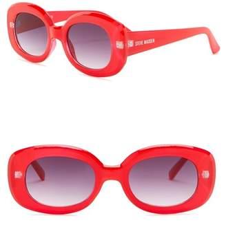 Steve Madden 50mm Novelty Round Sunglasses