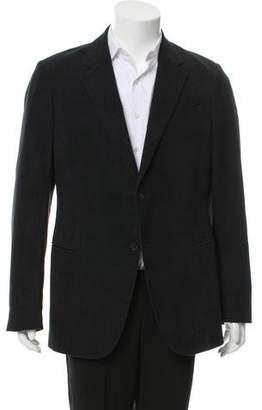 Armani Collezioni Velvet Two-Button Blazer