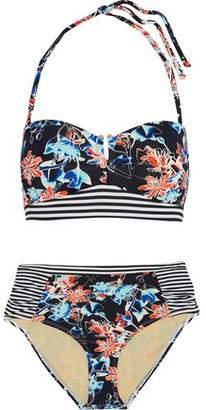 Tart Collections Ruched Printed Bandeau Bikini