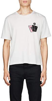 Saint Laurent Men's Playing-Card Cotton T-Shirt - Black