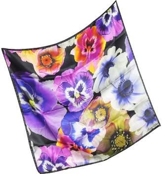 Marina D'Este Flowers Print Silk Bandana