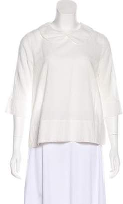 The Great Textured Long-Sleeve Blouse