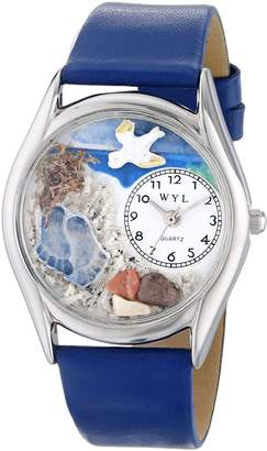 Whimsical Watches Women's S0710011 Footprints Royal Blue Leather Watch