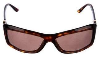 Bvlgari Tortoiseshell Rectangle Sunglasses