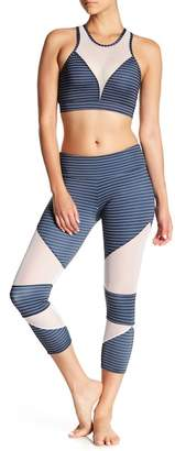 Onzie Cutout Mesh Stripe Leggings