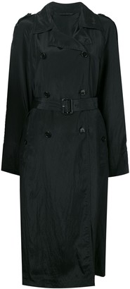 Helmut Lang double-breasted trench coat