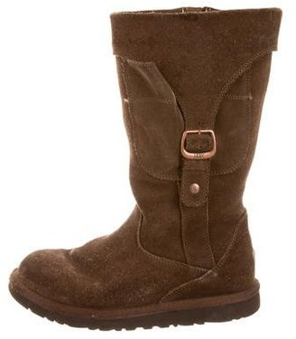 UGG Australia Suede Round-Toe Boots $85 thestylecure.com