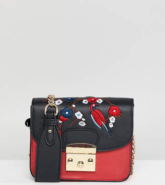 Glamorous Structured Cross Body Bag With Embroidery