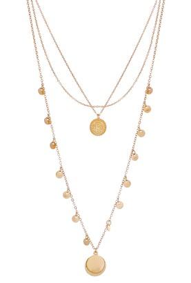 Panacea Layered Circle Pendant Necklace