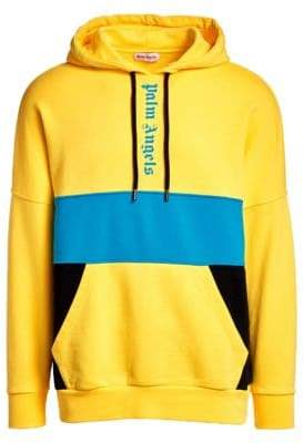Palm Angels Colorblock Logo Over Hoodie