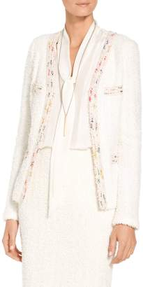 St. John Flagged Textural Knit Jacket