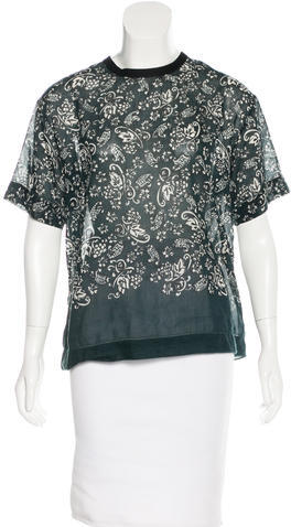 Marc Jacobs Marc Jacobs Short Sleeve Paisley Print Top