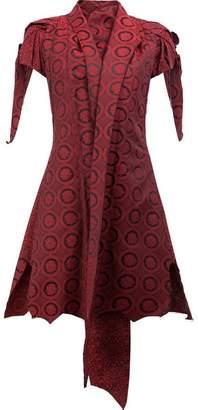 Aganovich shawl lapel shortsleeved jacket