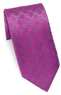 Charvet Medallion Rings Silk Tie
