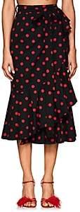 Marianna Senchina Women's Dotted Cotton Wrap Skirt - Black