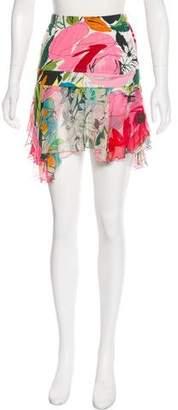 Blumarine Printed Mini Skirt