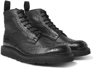 Tricker's Stow Full-Grain Leather Brogue Boots - Men - Black