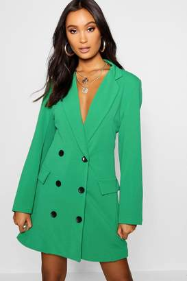 boohoo Double Breasted Pocket Detail Blazer Dress