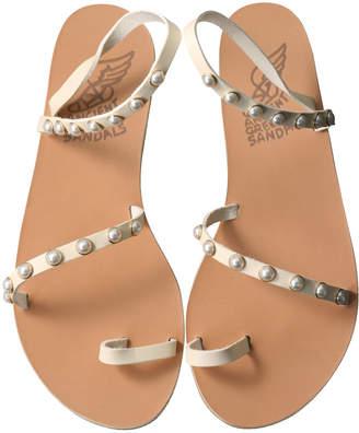 Ancient Greek Sandals エンシェント グリーク サンダルズ APLI ELEFTHERIA パールストラップフラットサンダル