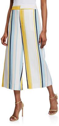 Yumi Kim Perfect Day Striped Wide-Leg Crop Pants