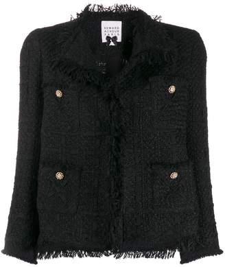 Edward Achour Paris frayed fitted jacket