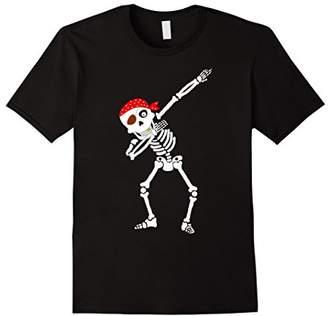 Funny Dabbing Skeleton T-Shirt Pirate Halloween Costume