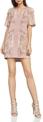 BCBGMAXAZRIA Harlan Scarf Print Shift Dress