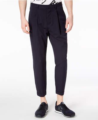 Armani Exchange Men's Pleated Seersucker Pants