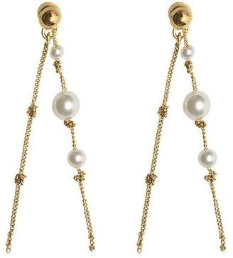 Burberry Faux Pearl Gold-plated Drop Earrings