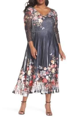 Komarov Charmeuse Chiffon A-Line Dress