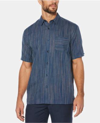 Cubavera Men Space-Dye Pocket Linen Shirt
