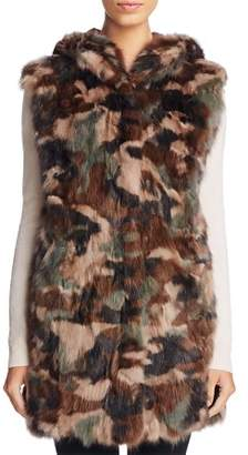 Maximilian Furs Sable Fur Camo Vest