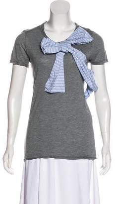 RED Valentino Bow Accented Short Sleeve Top