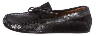 Etoile Isabel Marant Ponyhair Round-Toe Loafers