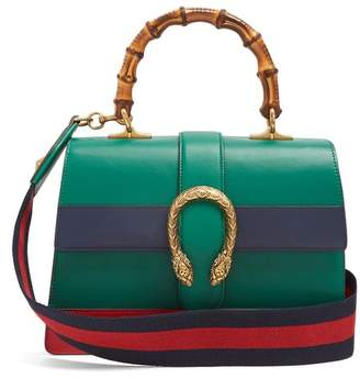 Gucci - Dionysus Medium Bamboo Handle Leather Bag - Womens - Green