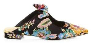 Alexandre Birman Knotted Floral Flat Mules