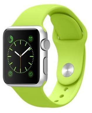 Apple Watch 38mm Aluminum Case Sport with Green Sport Band