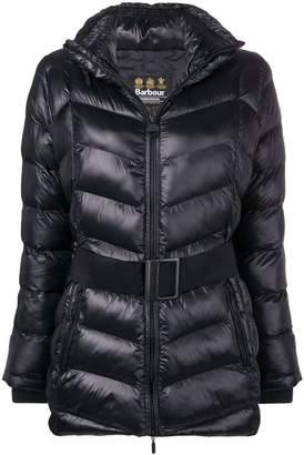 Barbour belted padded jacket
