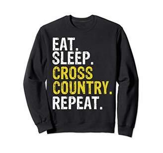 Eat Sleep Cross Country Repeat Running Gift Sweatshirt