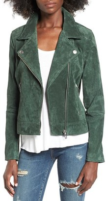 Women's Blanknyc Suede Moto Jacket With Detachable Faux Fur Collar $198 thestylecure.com
