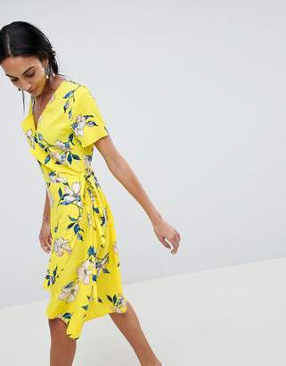 B.young Printed Wrap Dress