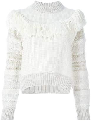 Lanvin frayed tassel knitjumper