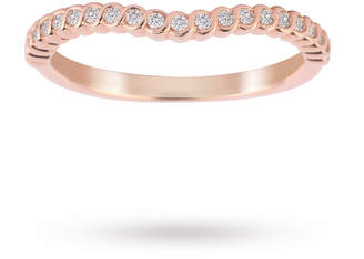 18ct Rose Gold 0.15cttw Twist Dip Band Ring